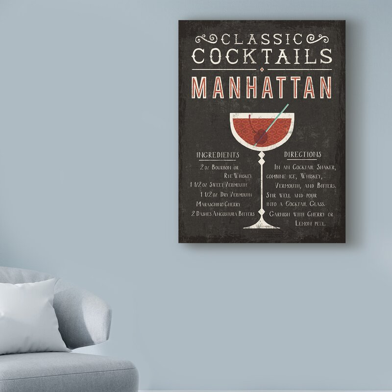 COCKTAILS PANORAMIC DRINKS CANVAS PRINT PICTURE WALL ART VARIETY OF SIZES