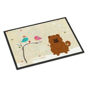 Christmas Presents Between Friends Chow Chow Doormat