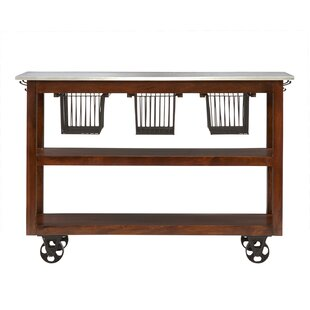 Phoenicis Kitchen Cart with Marble Top August Grove