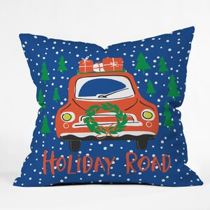 Holiday Road Indoor/Outdoor Throw Pillow