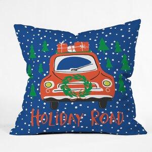 Holiday Road Indoor/Outdoor Throw Pillow