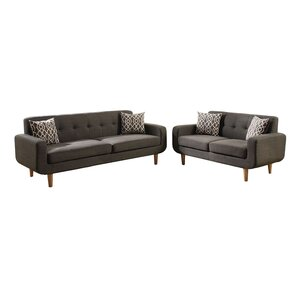 Venters Dorris Fabric 2 Piece Living Room Set by George Oliver