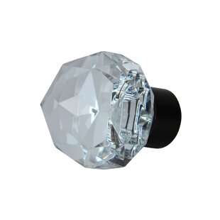 Diamond Cut Clear Cabinet Crystal Knob