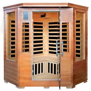 Hemlock Corner 3 Person FAR Infrared Sauna By MajesticSaunas