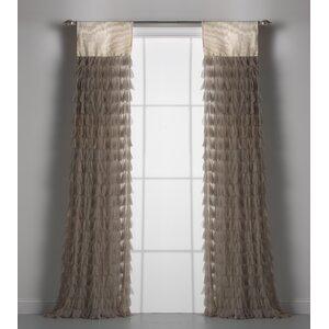 Chichi Solid Semi-Sheer Rod Pocket Single Curtain Panels