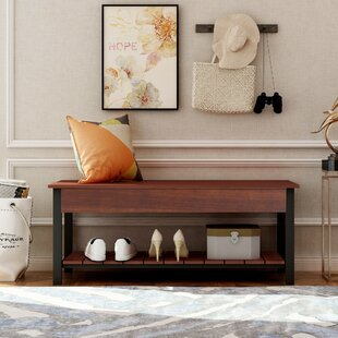 Vosburgh Metal Shoe Storage Bench By Foundry Select