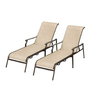 Red Barrel Studio Doucette Sling Chaise Lounge (Set of 2)