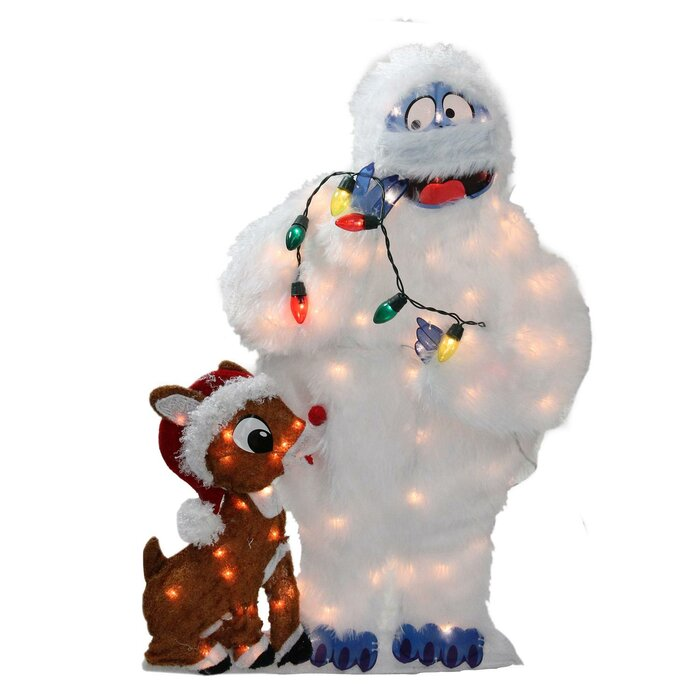 Peanuts Outdoor Christmas Decorations.Pre Lit Peanuts Rudolph And Bumble 2d Christmas Yard Art Decoration Lighted Display