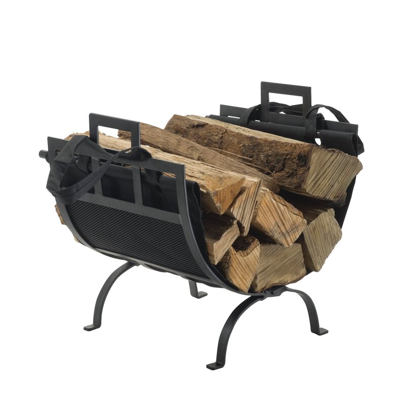 Pleasant Hearth Wrought Iron Fireplace Wood Holder Reviews Wayfair