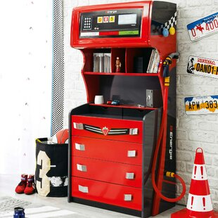 Look for Champion GTI Racer 4 Drawer Chest with Hutch by Cilek Reviews (2019) & Buyer's Guide
