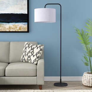 Floor Lamp With Linen Shade | Wayfair