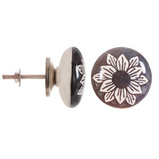 Handpainted Ceramic Round Knob