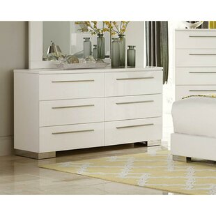 Palmhurst 6 Drawer Double Dresser by Orren Ellis Wonderful