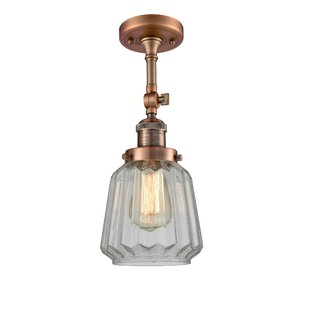 Vinson 1-Light Semi Flush Mount by Latitude Run
