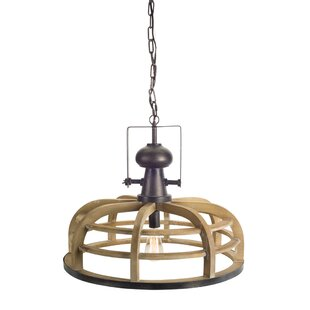 Gracie Oaks Wald Hanging Lamp 1-Light Dome Pendant