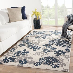 Kolya Floral Beige/Blue Indoor/Outdoor Area Rug
