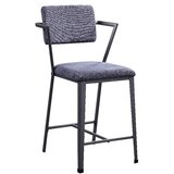 Kutlu Fabric Metal Side Chair in Gray (Set of 2) by Ebern Designs
