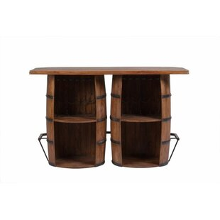 Fleur De Lis Living Wakefield Double Barrel Bar with Wine Storage