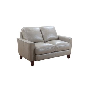Izaiah Leather Loveseat