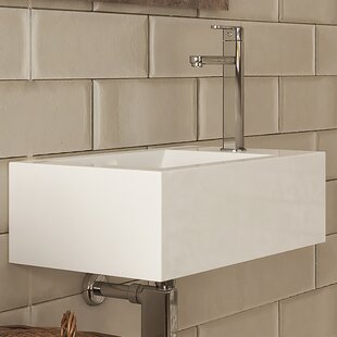 DECOLAV Allona Classically Redefined Vitreous China Rectangular Bathroom Sink with Overflow