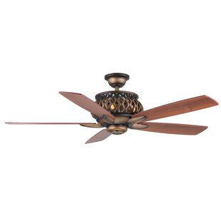Inexpensive 52 Berke 5-Blade Ceiling Fan with Remote By Fleur De Lis Living