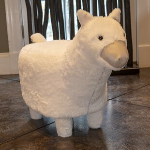 Clower Alpaca Toy Kids Suede Ottoman by Zoomie Kids