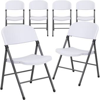 Meco Hg Plastic Padded Folding Chair Reviews Wayfair