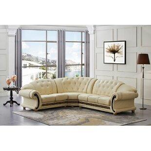 Cream Leather Corner Sofa Wayfair Co Uk