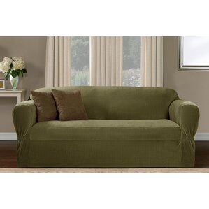 One Piece Box Cushion Loveseat Slipcover by Red Barrel Studio