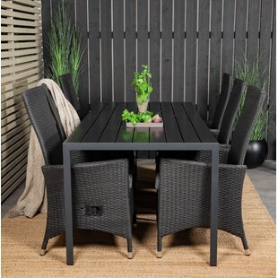 Albi 6 Seater Dining Set With Cushions By Sol 72 Outdoor