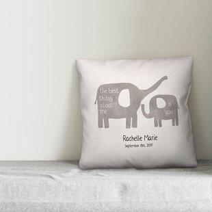 Didmarton Happy Elephants Throw Pillow
