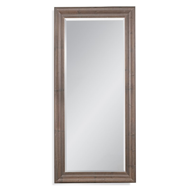 Orval Traditional Rustic Beveled Leaner Full Length Mirror