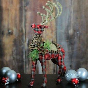 140761a32e0bc Christmas Stuffed Reindeer Figurine. By The Holiday Aisle