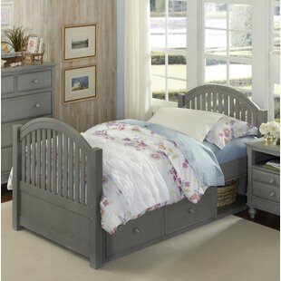 Brielle Twin Panel Bed with Storage by Harriet Bee