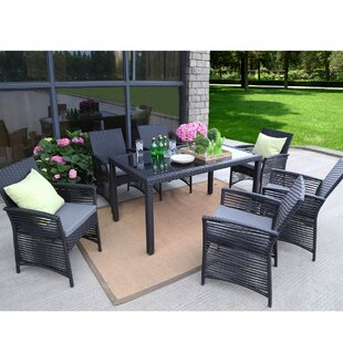 Ivy Bronx Riverdale Backyard 7 Piece Dining Set with Cushions