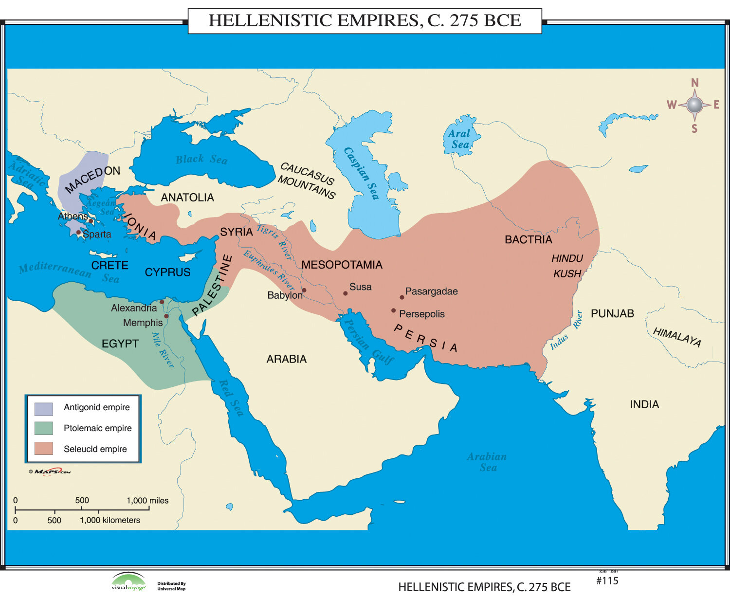 Universal map world history wall maps hellenistic empires wayfair gumiabroncs Gallery