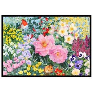 Winter Floral Doormat