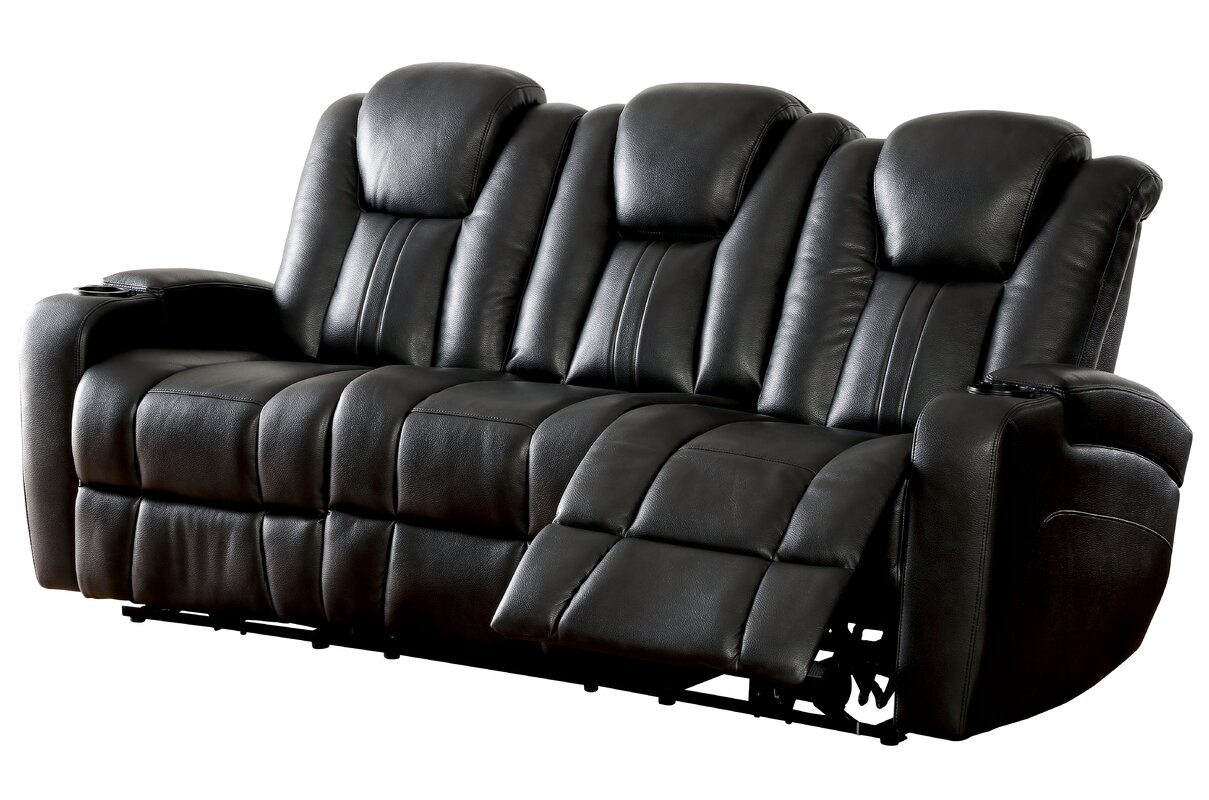 Reclining Loveseats Sofas You Ll Love Wayfair ~ Brown Leather Reclining Sofa