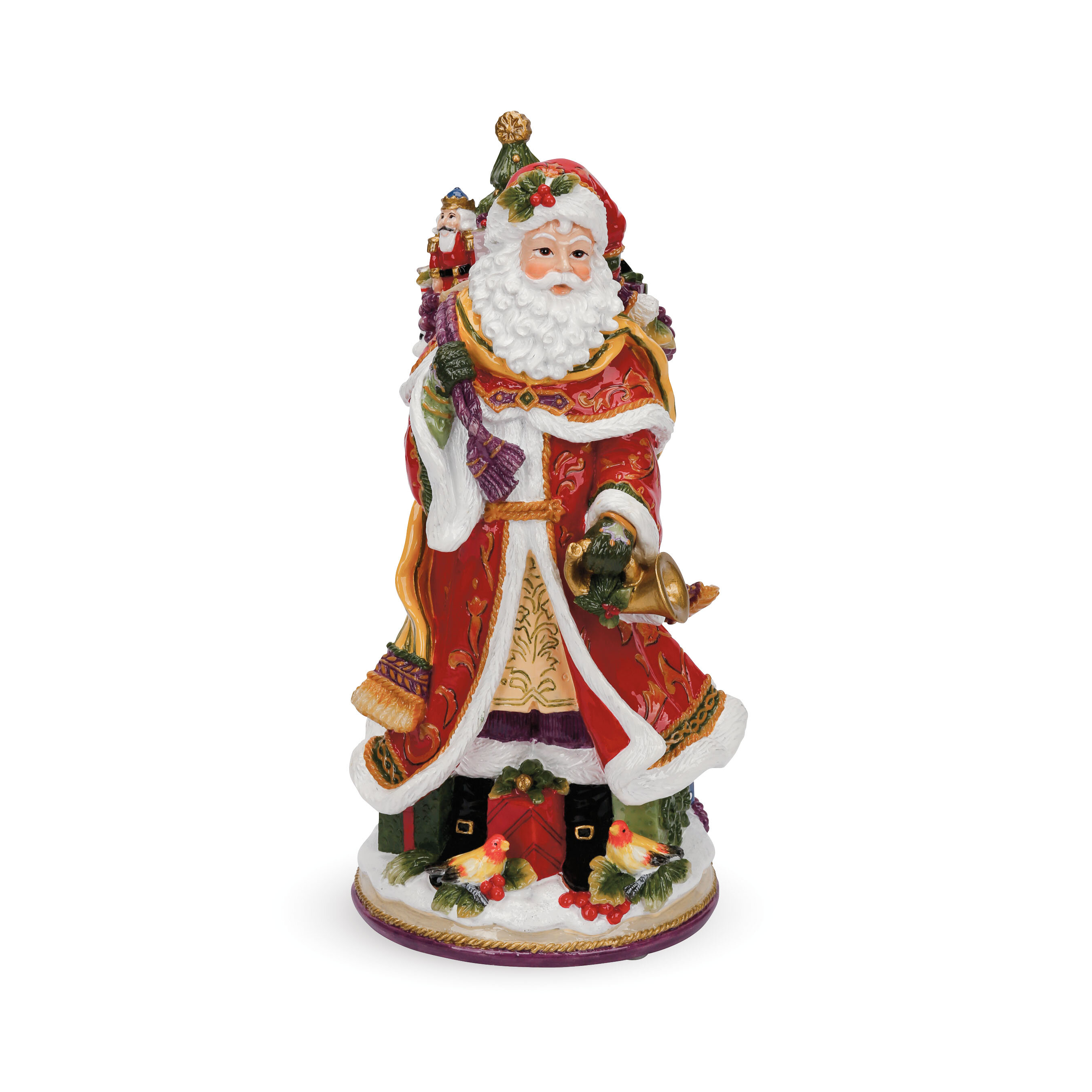 santa toys decorative sleigh decor products doll santas with reindeer and wildflower claus