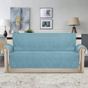 Price comparison Upgraded Water Repellent Diamond Box Cushion Sofa Slipcover by Winston Porter Reviews (2019) & Buyer's Guide