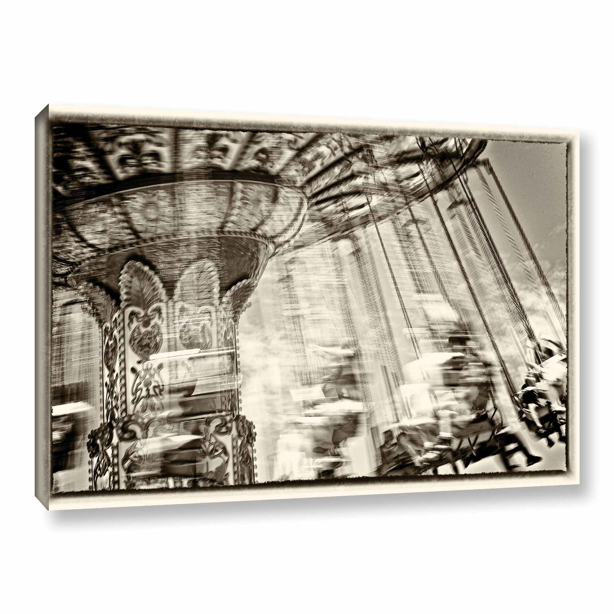 Latitude Run Dizzy Photographic Print On Wrapped Canvas Wayfair