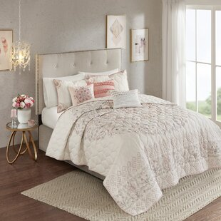 Evelina 6 Piece Reversible Coverlet Set