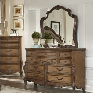 Buy clear Petti 10 Drawer Dresser with Mirror by Astoria Grand