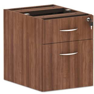 Alera Valencia Series Hanging Box Pedestal 2-Drawer Vertical Filing Cabinet