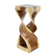 Bailey Hourglass Shaped Wood End Table by Loon Peak