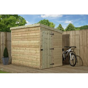 4 Ft. W X 5 Ft. D Shiplap Pent Wooden Shed By WFX Utility