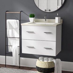 Kyra 24 Single Bathroom Vanity Set with Marble Top By Orren Ellis