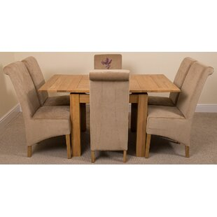 Kenia Dining Set With 6 Chairs By Rosalind Wheeler