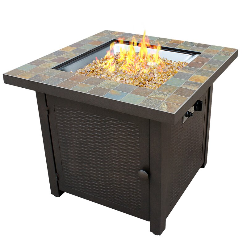 Gentil Slate Propane Gas Fire Pit Table