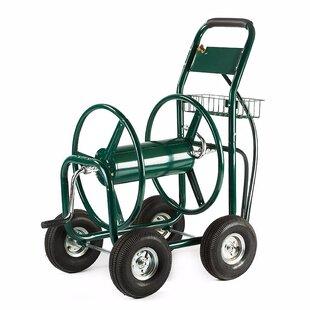 Heavy Duty Industrial Yard Garden Landscape Metal Hose Reel Cart By ALEKO